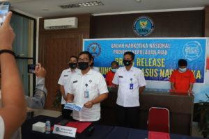 Press Release Pengungkapan Kasus Narkotika di BNNP KEPRI